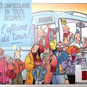 """Brochure """" Le car scolaire en toute sécurité ? L'affaire de tous !""""  diffusé par la Région, ou par le Département en relation avec la Région"""