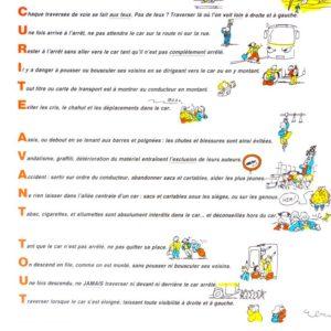 Panonceaux sur pvc : les 17 règles d'or de la sécurité en car